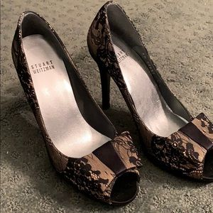 Beautiful Stuart Weitzman lace heels!